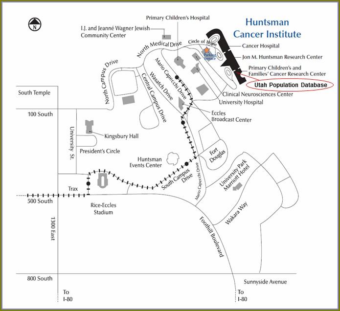 Huntsman Cancer Hospital Map
