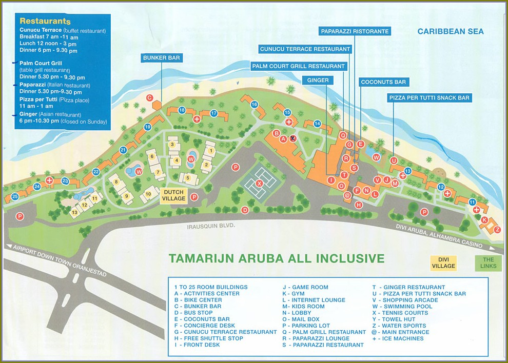 Hyatt Aruba Resort Map