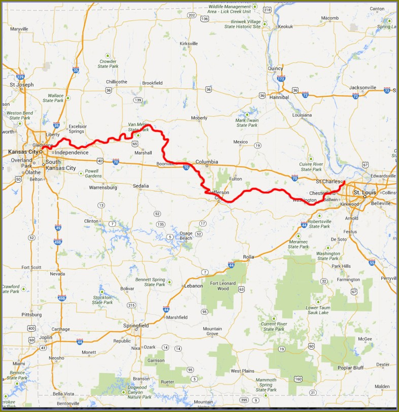 I 35 Mile Marker Map Missouri