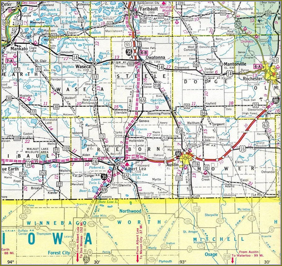 I 35 Mile Marker Map Oklahoma