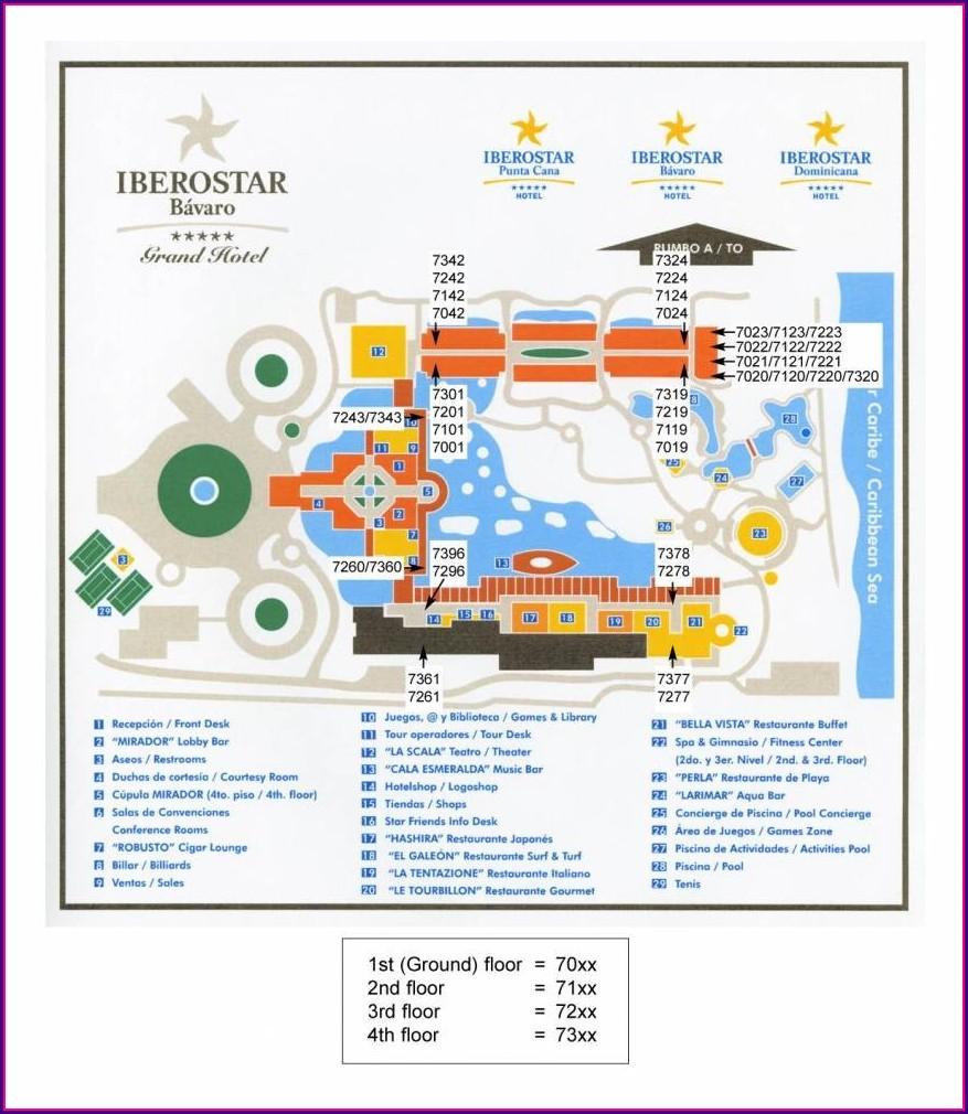 Iberostar Punta Cana Hotel Map