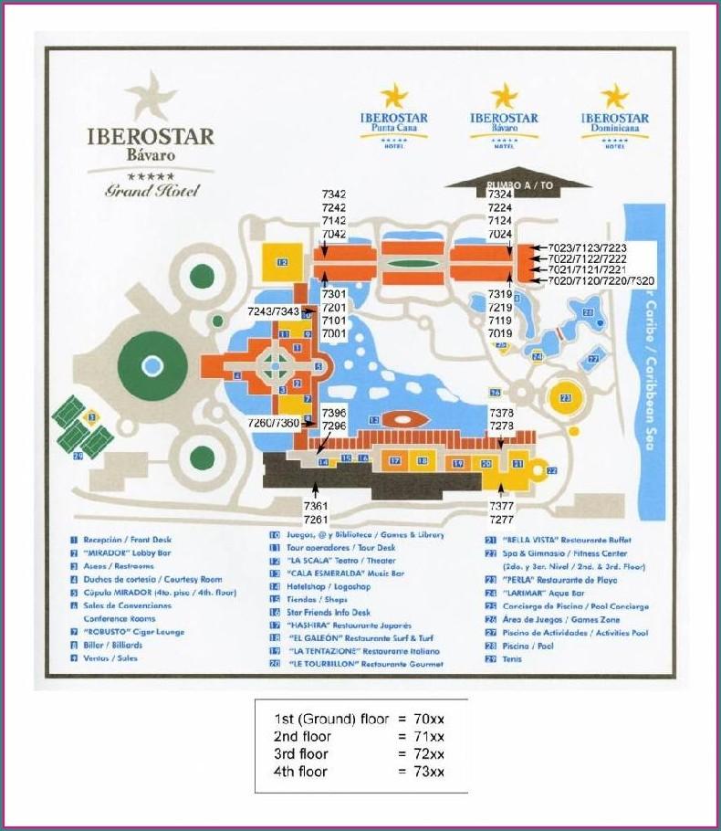 Iberostar Punta Cana Resort Map