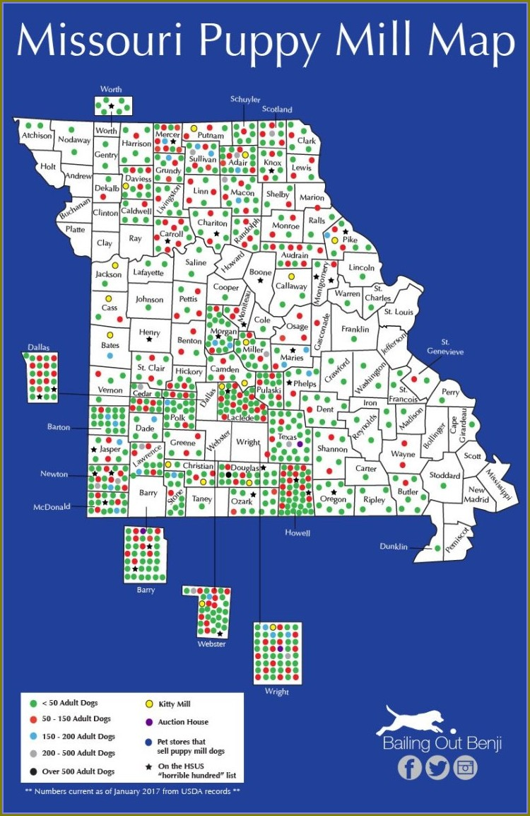Indiana Puppy Mill Map