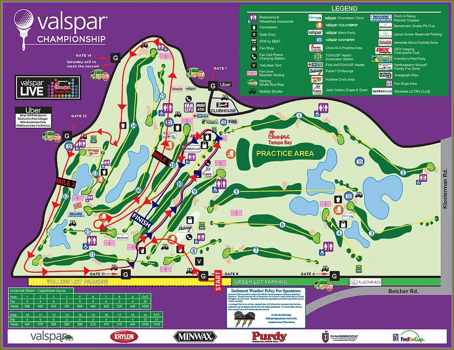 Innisbrook Golf Course Map