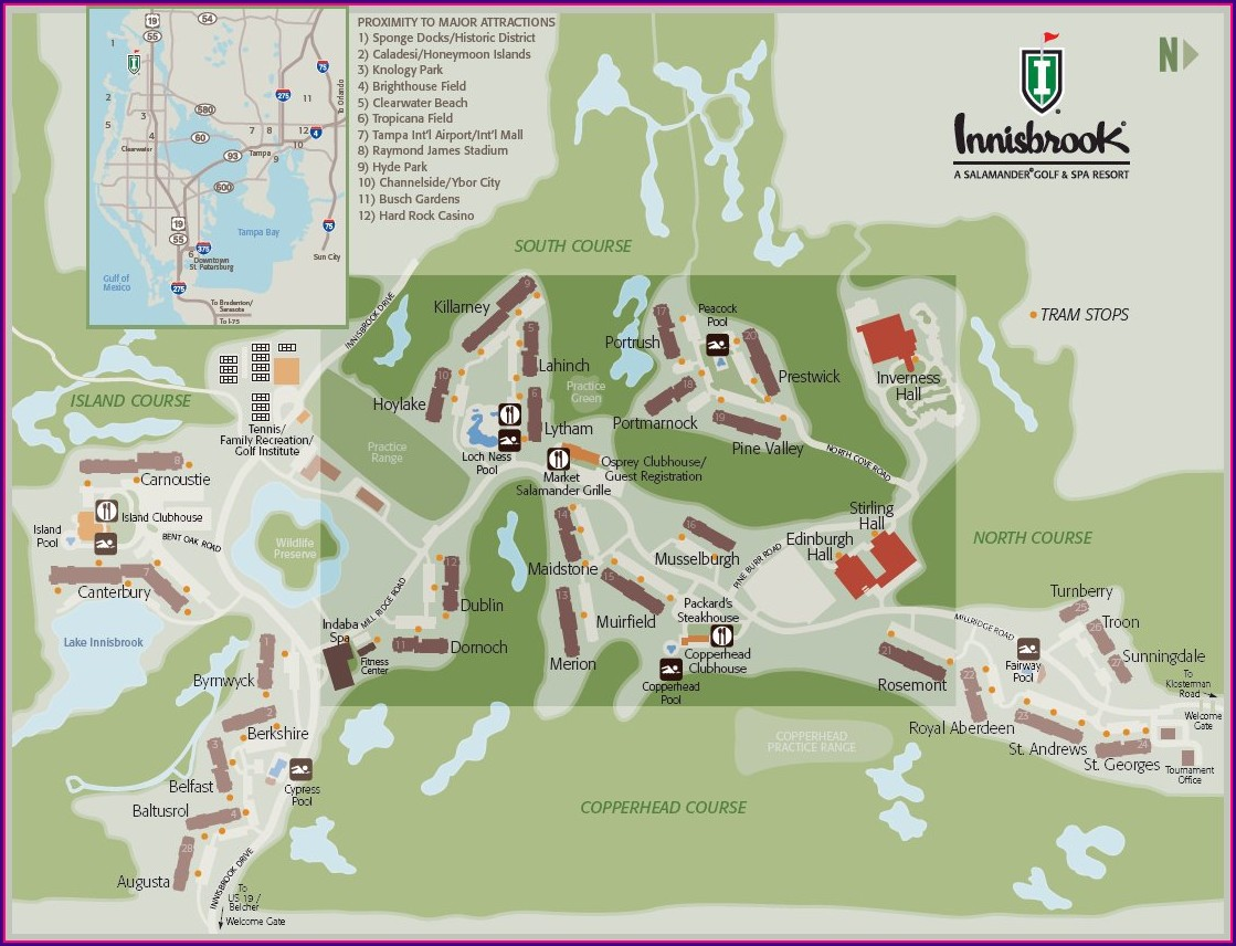 Innisbrook Resort Florida Map