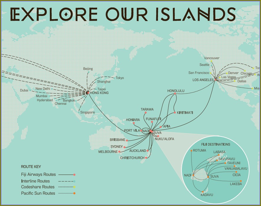 Insel Air Route Map