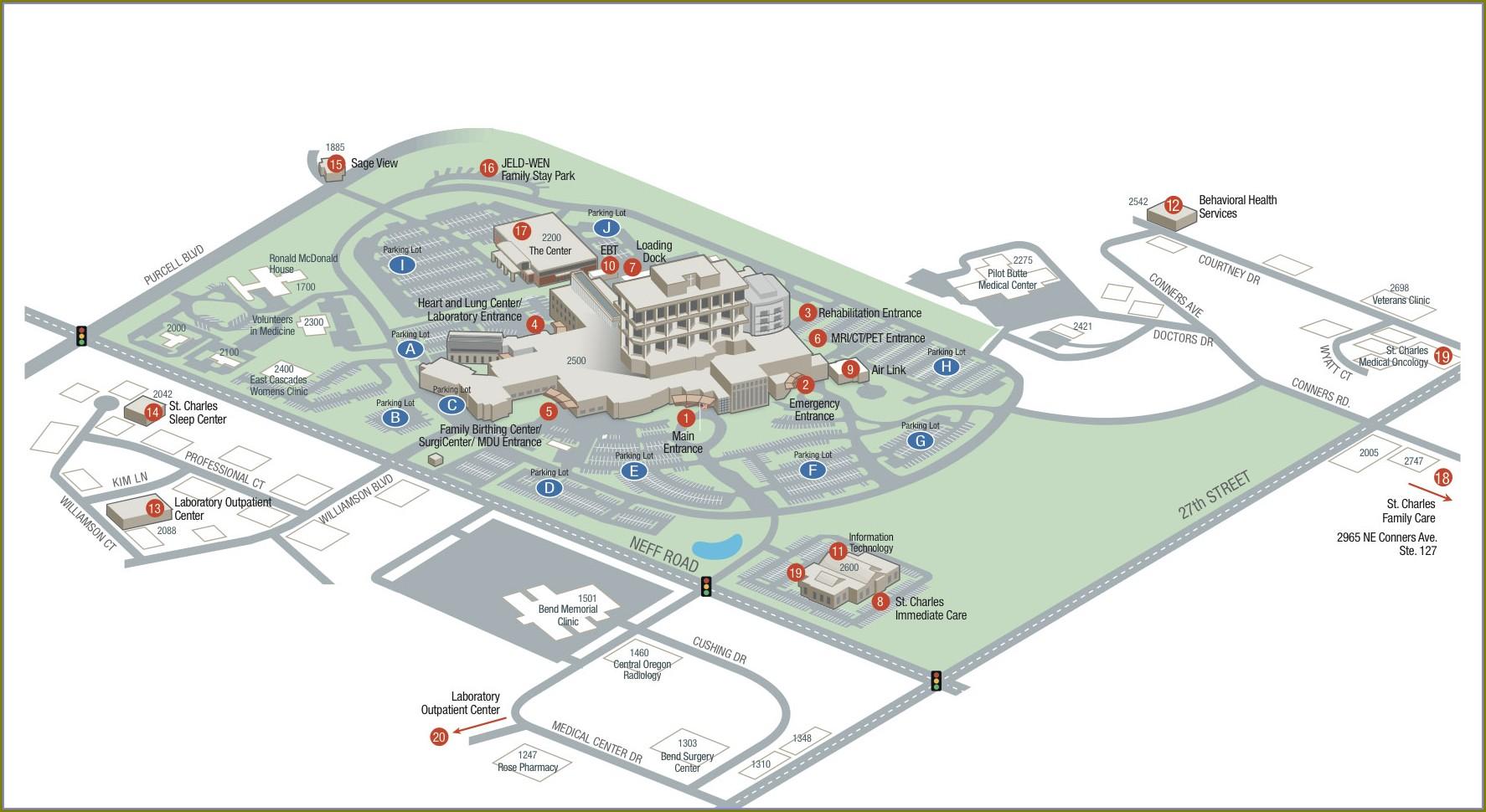 Intel Chandler Campus Map