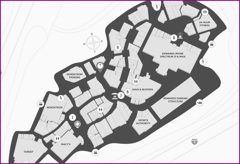 Irvine Spectrum Parking Map