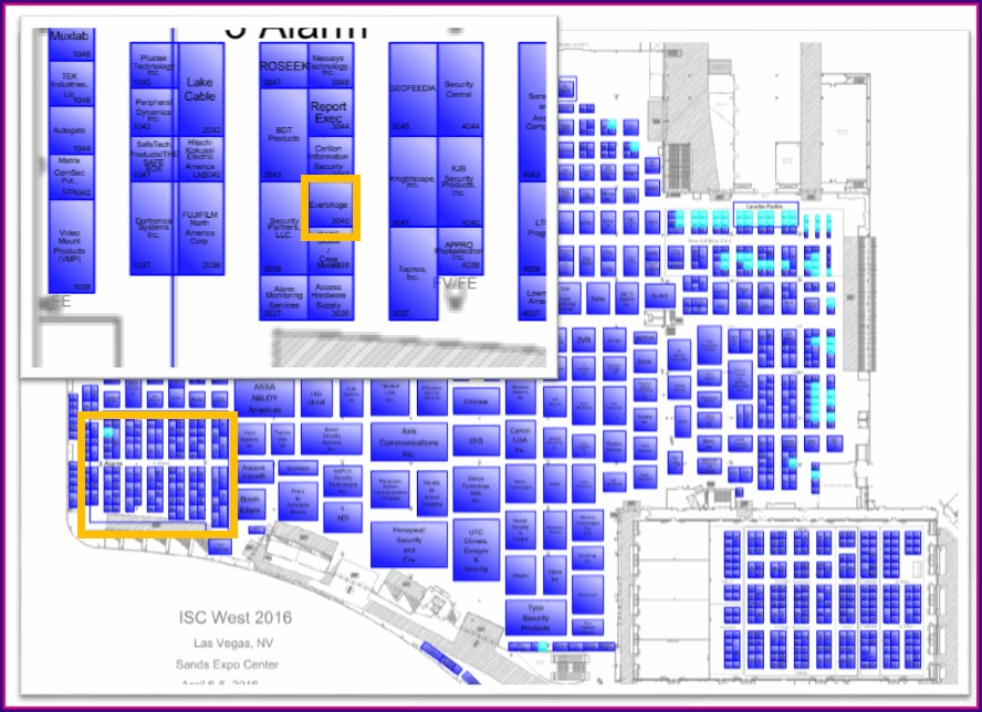 Isc West Booth Map