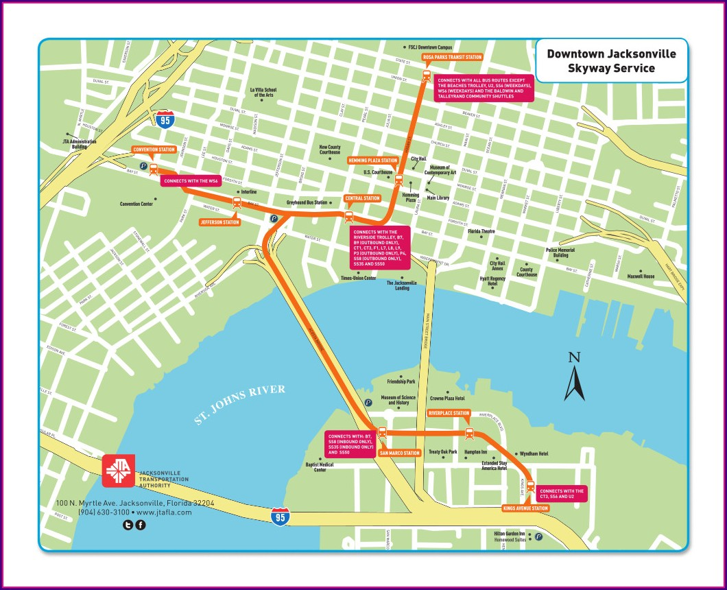 Jacksonville Bus Routes Map