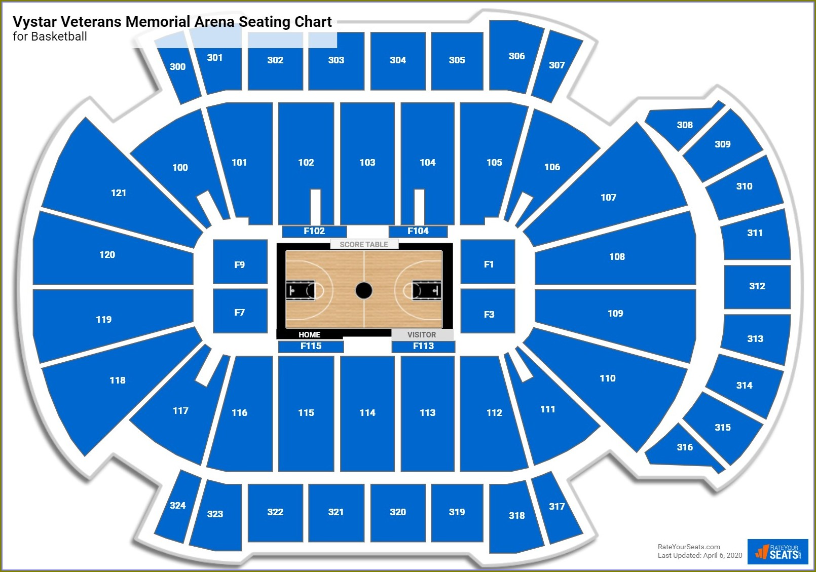 Jacksonville Memorial Arena Seating Map