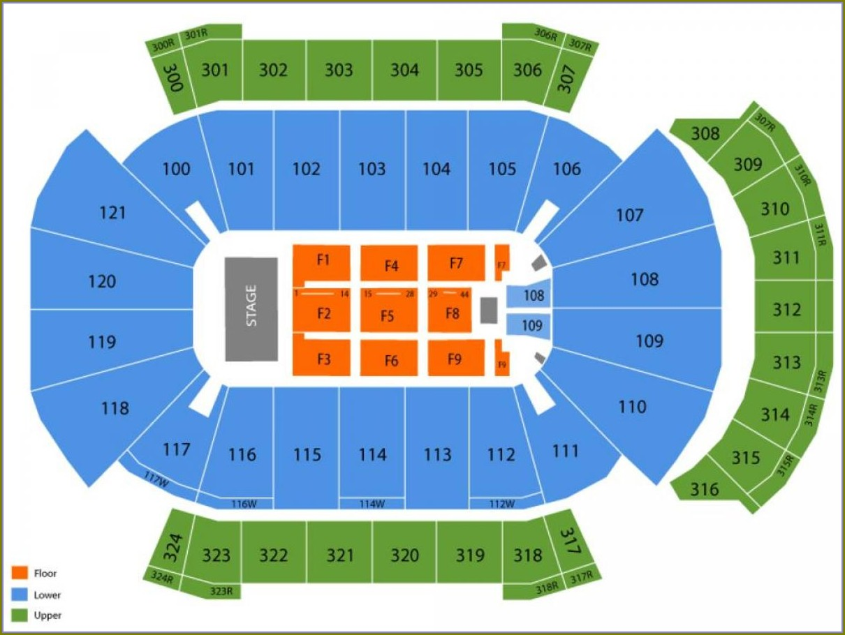 Jacksonville Veterans Memorial Arena Map