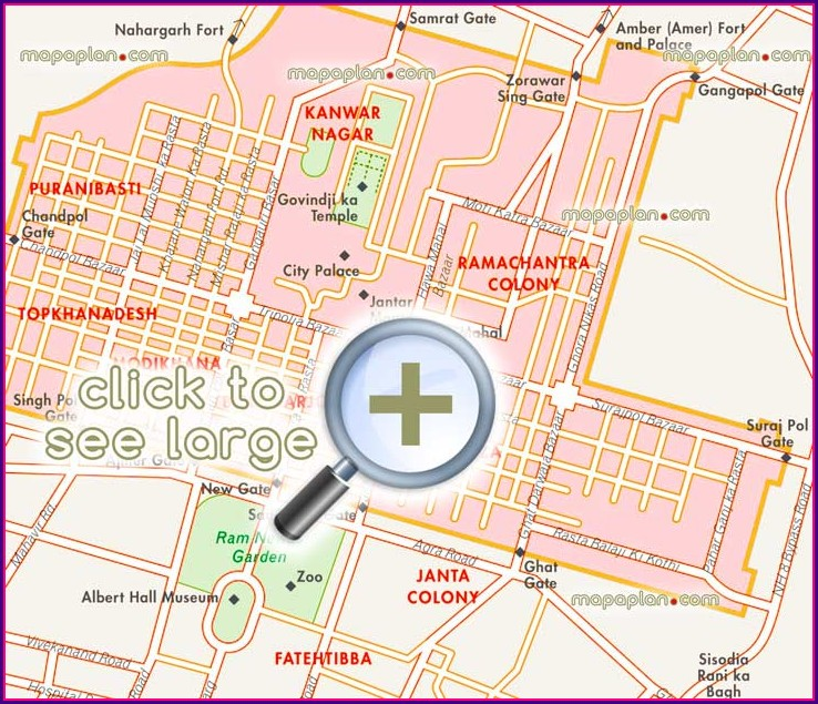 Jaipur Tourist Map Pdf