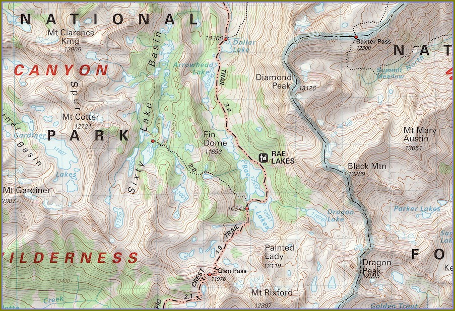John Muir Wilderness Trail Map Pdf