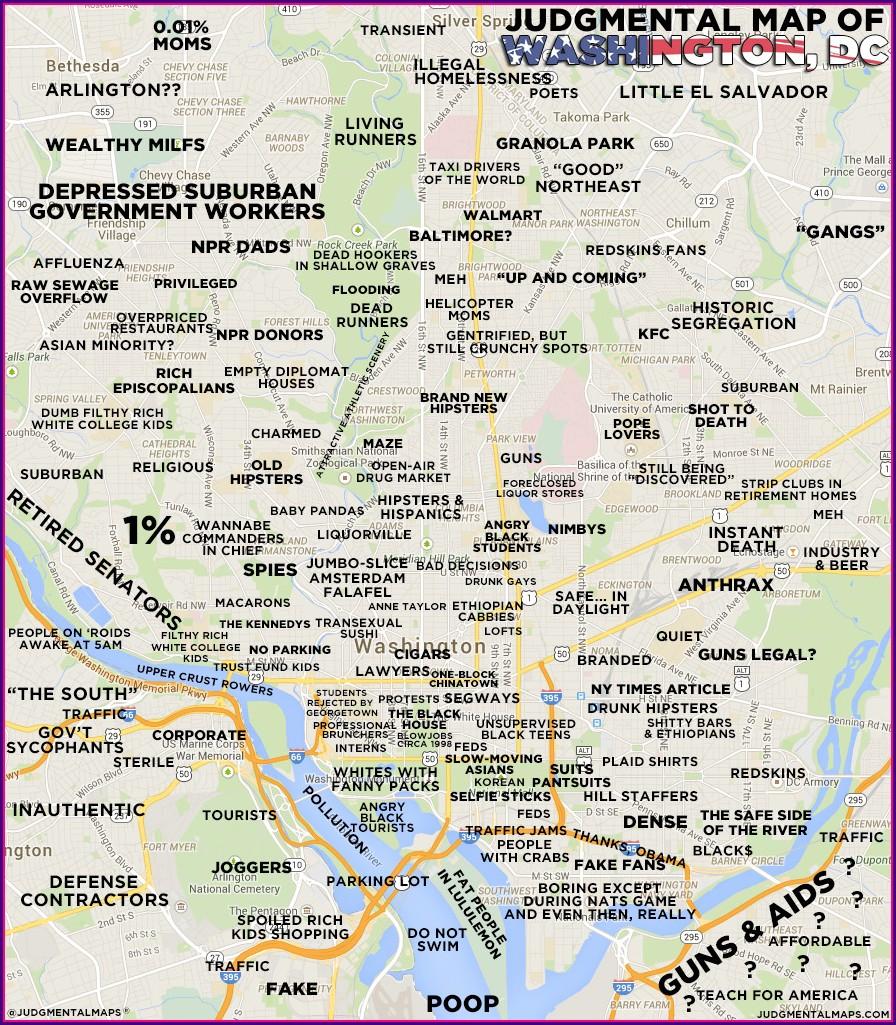 Judgemental Map Of Dc