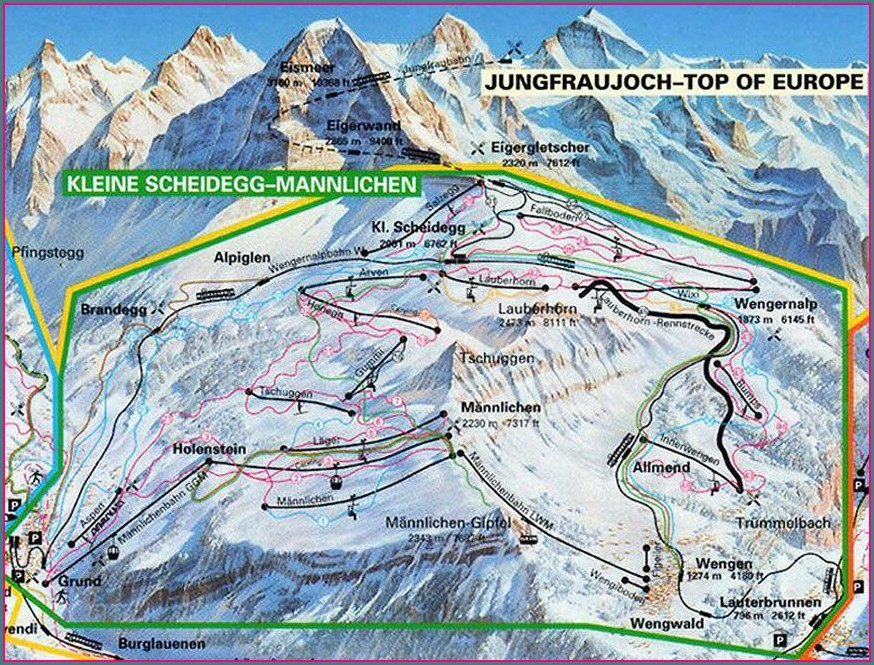 Jungfrau Hiking Map Pdf