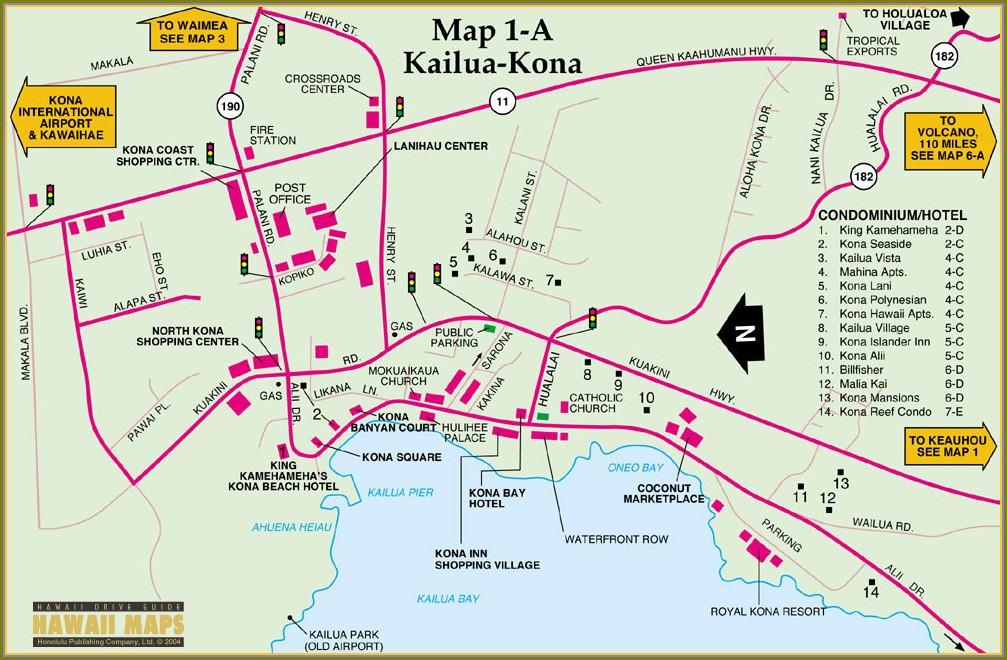 Kailua Kona Hotels Map