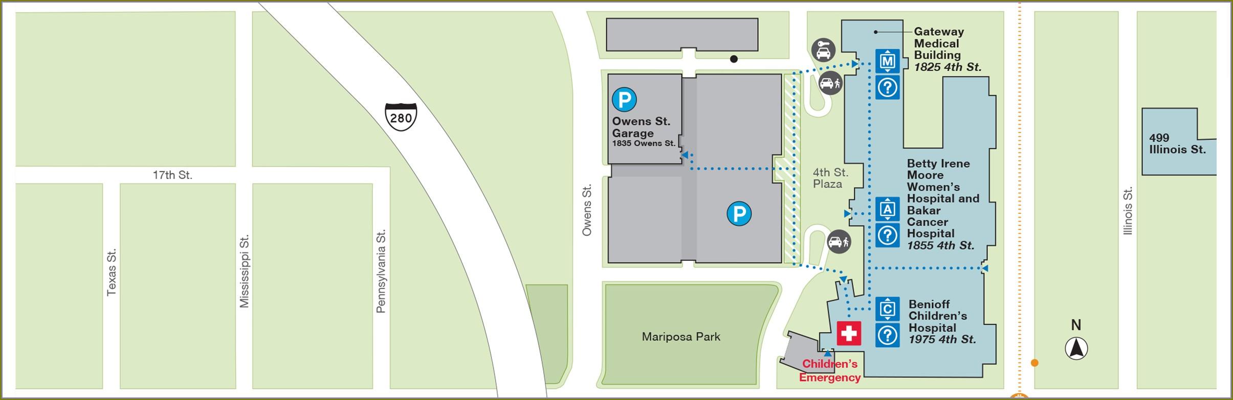 Kaiser Fresno Hospital Map