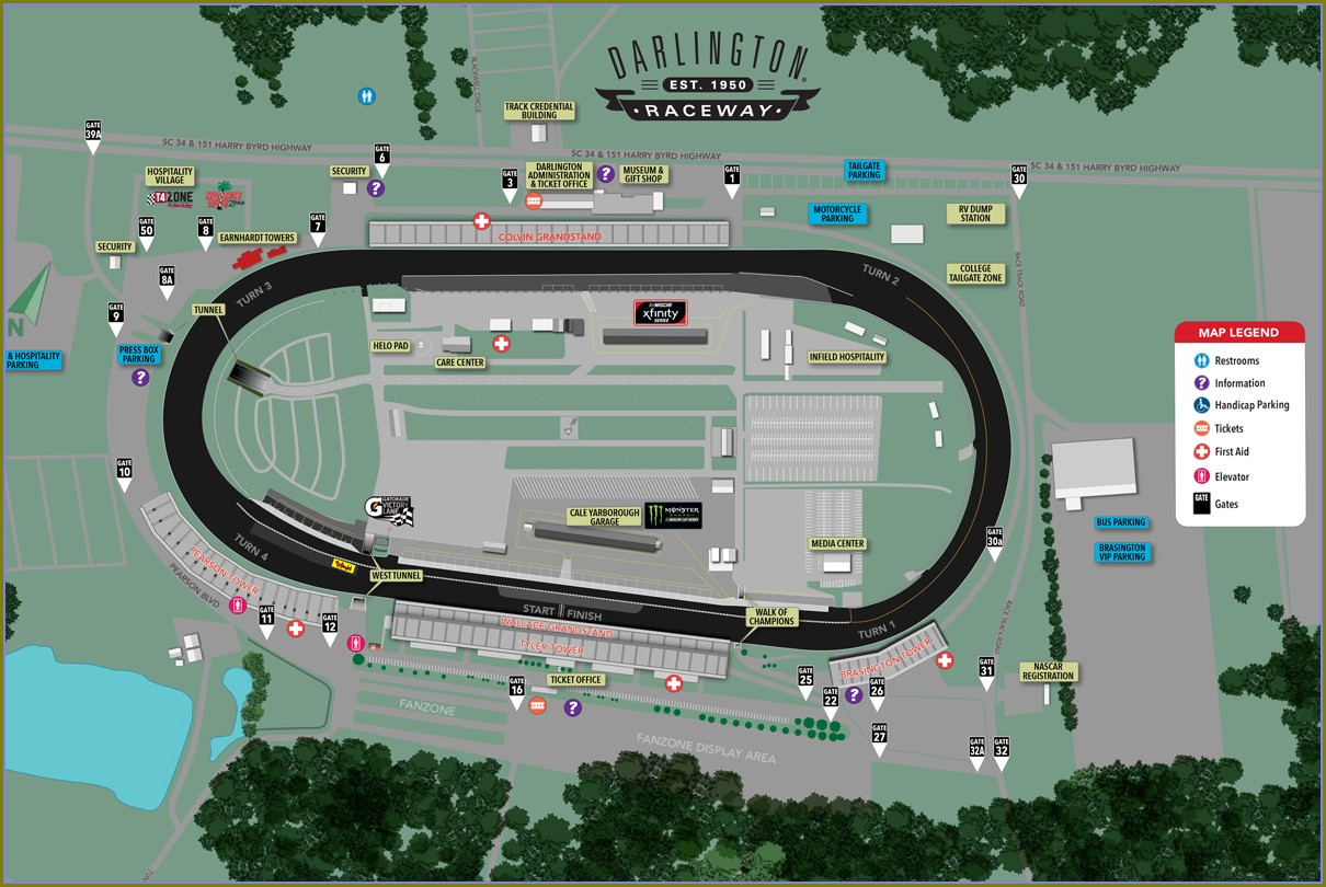 Kansas Motor Speedway Seating Map