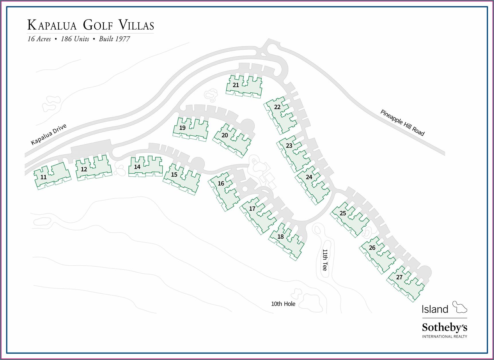 Kapalua Golf Villas Site Map
