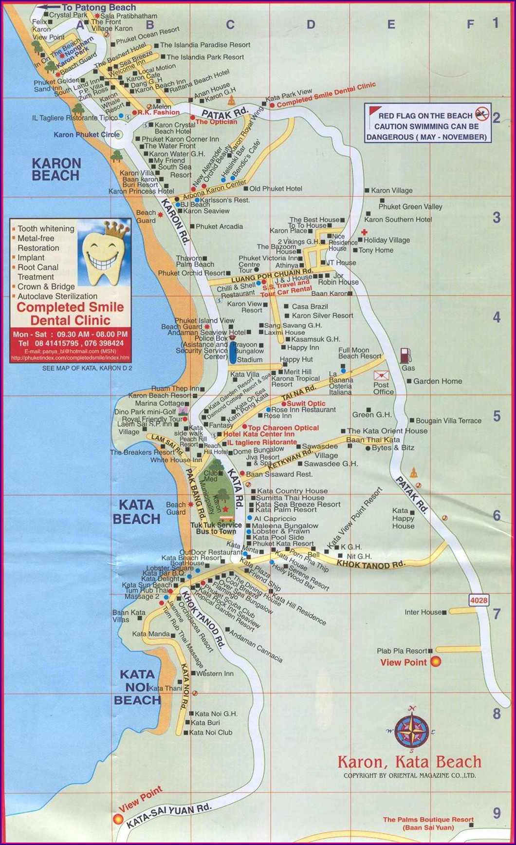Kata Beach Hotels Map