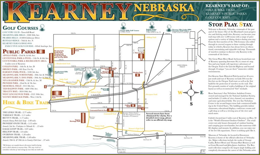 Kearney Hike And Bike Trail Map