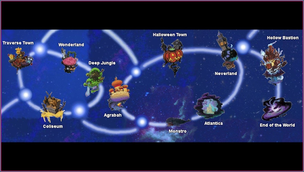 Kingdom Hearts 15 World Map