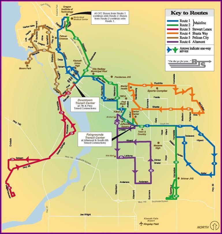 Klamath Falls Bus Map