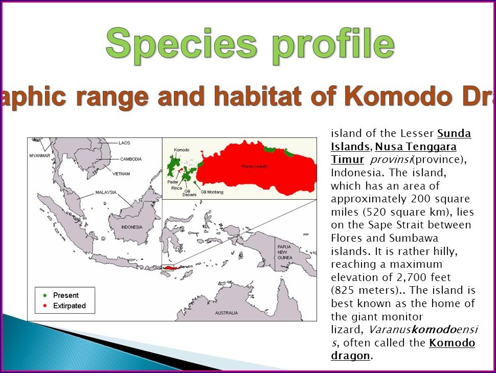 Komodo Dragon Range And Habitat Map
