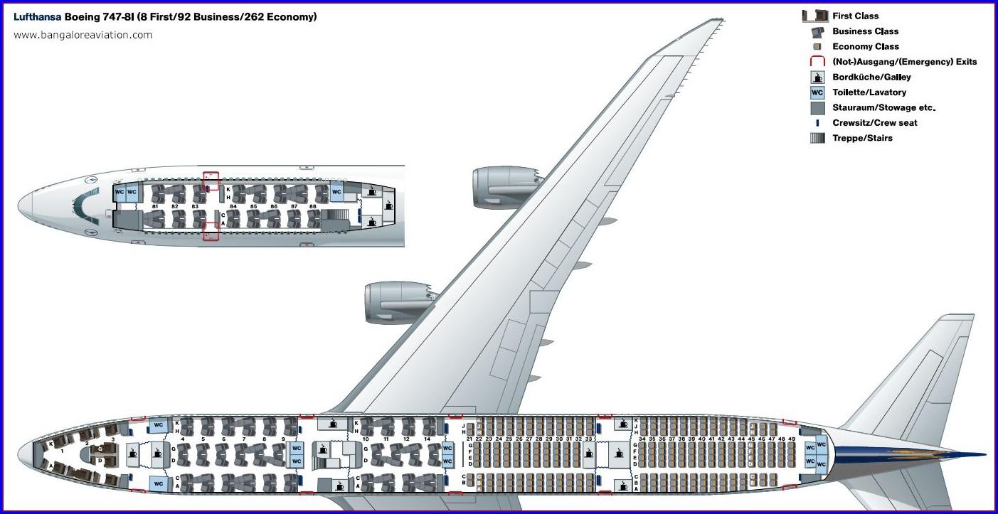 Korean Air 747 8i Seat Map