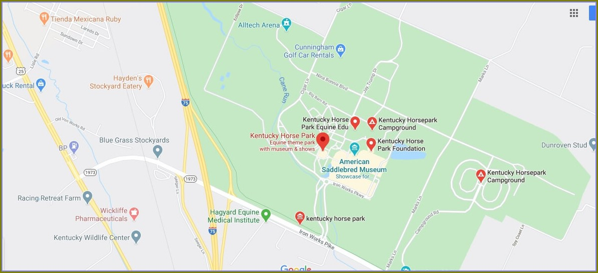 Ky Horse Park Campground Map