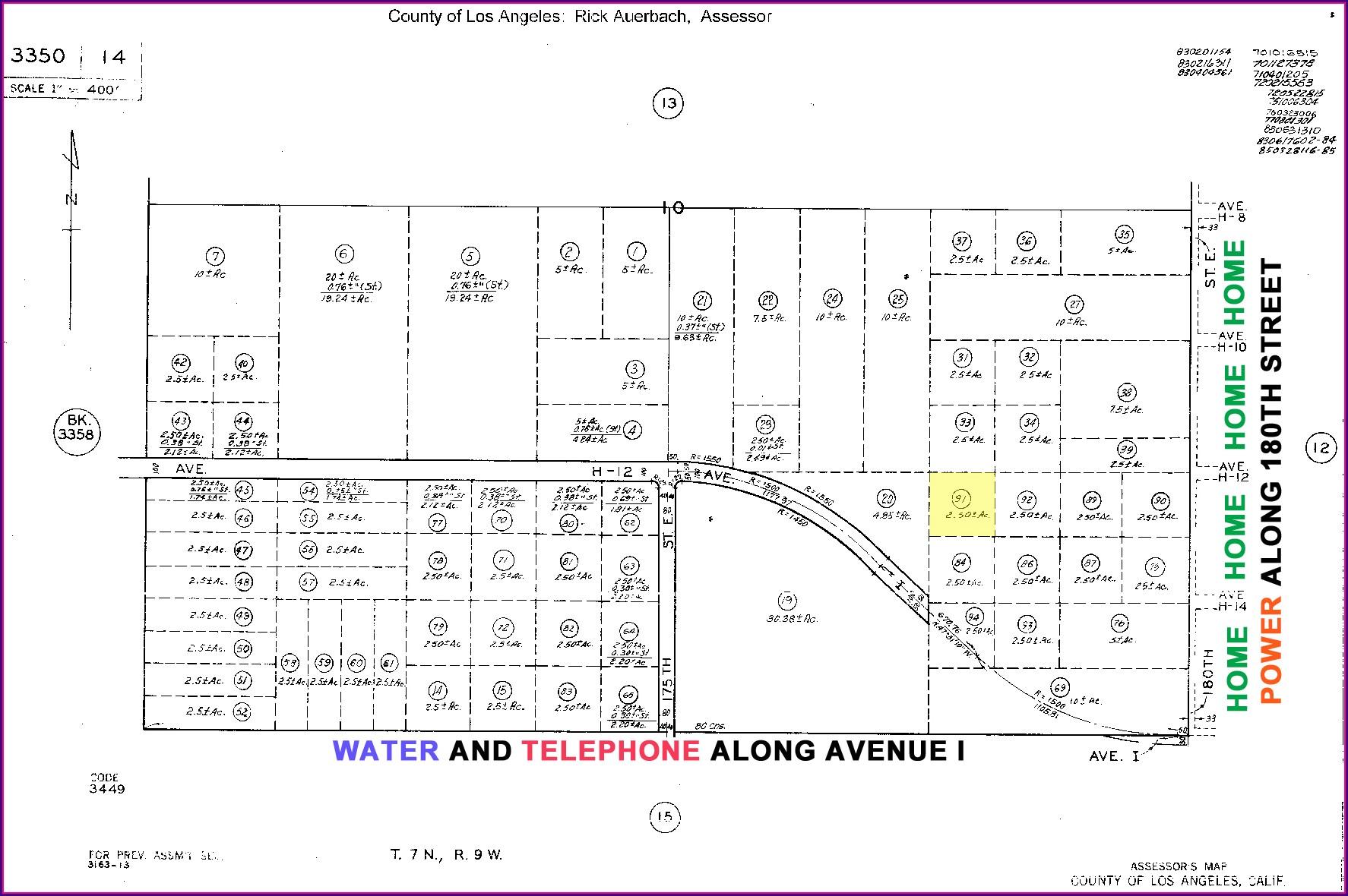 La County Assessor's Map