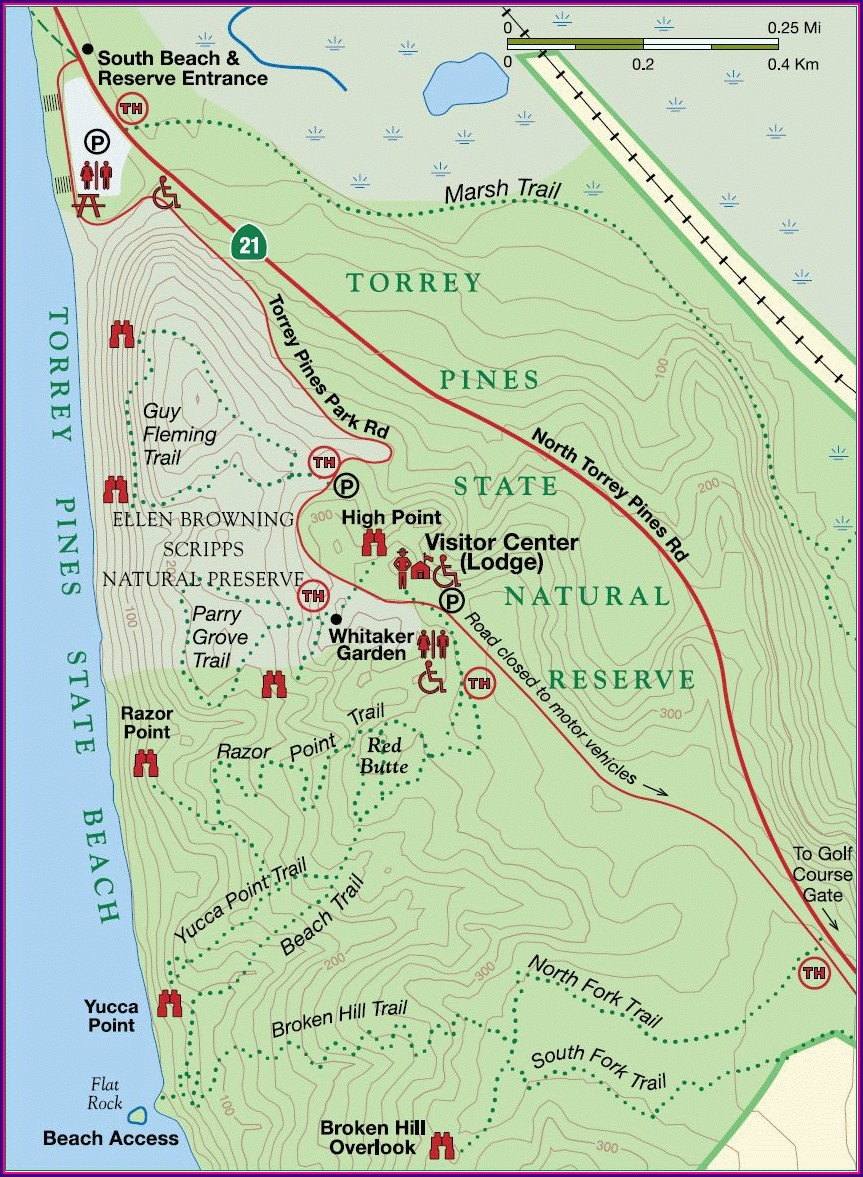 La Jolla Walking Trail Map