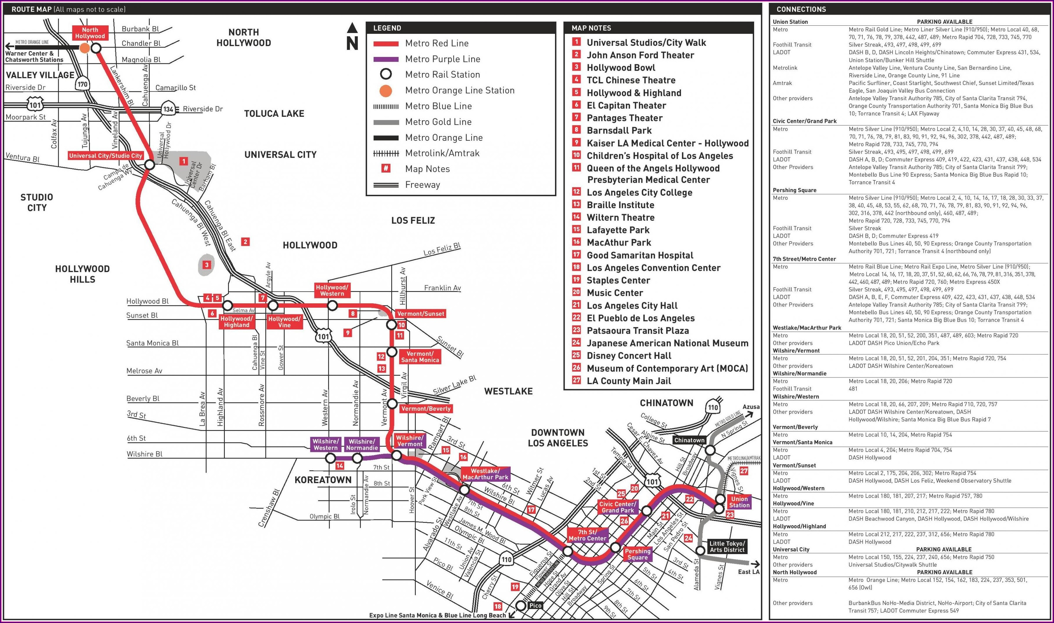 La Metro Purple Line Map