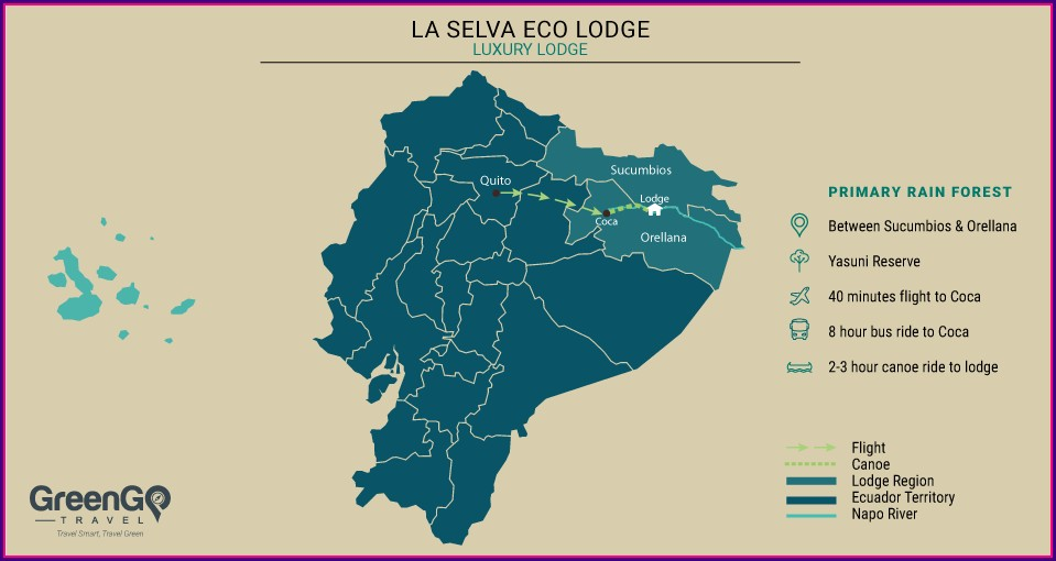 La Selva Lodge Ecuador Map