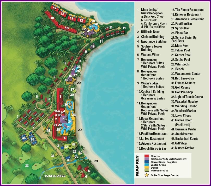 La Toc St Lucia Map