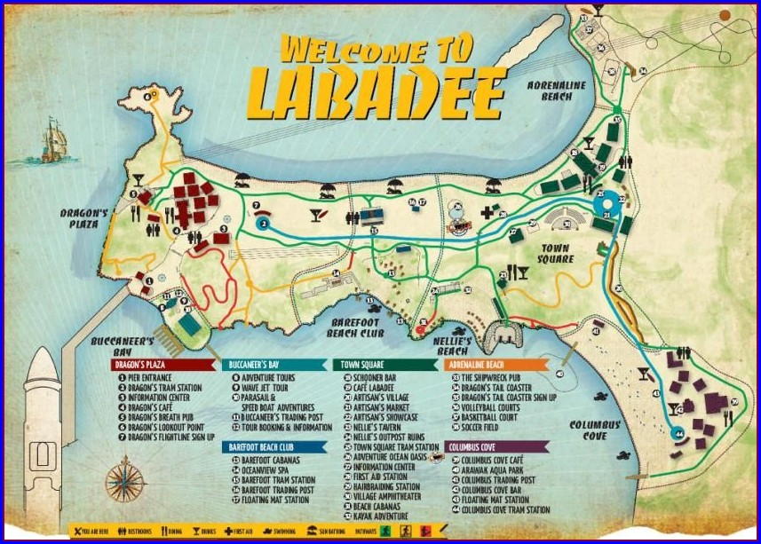 Labadee Haiti Royal Caribbean Map