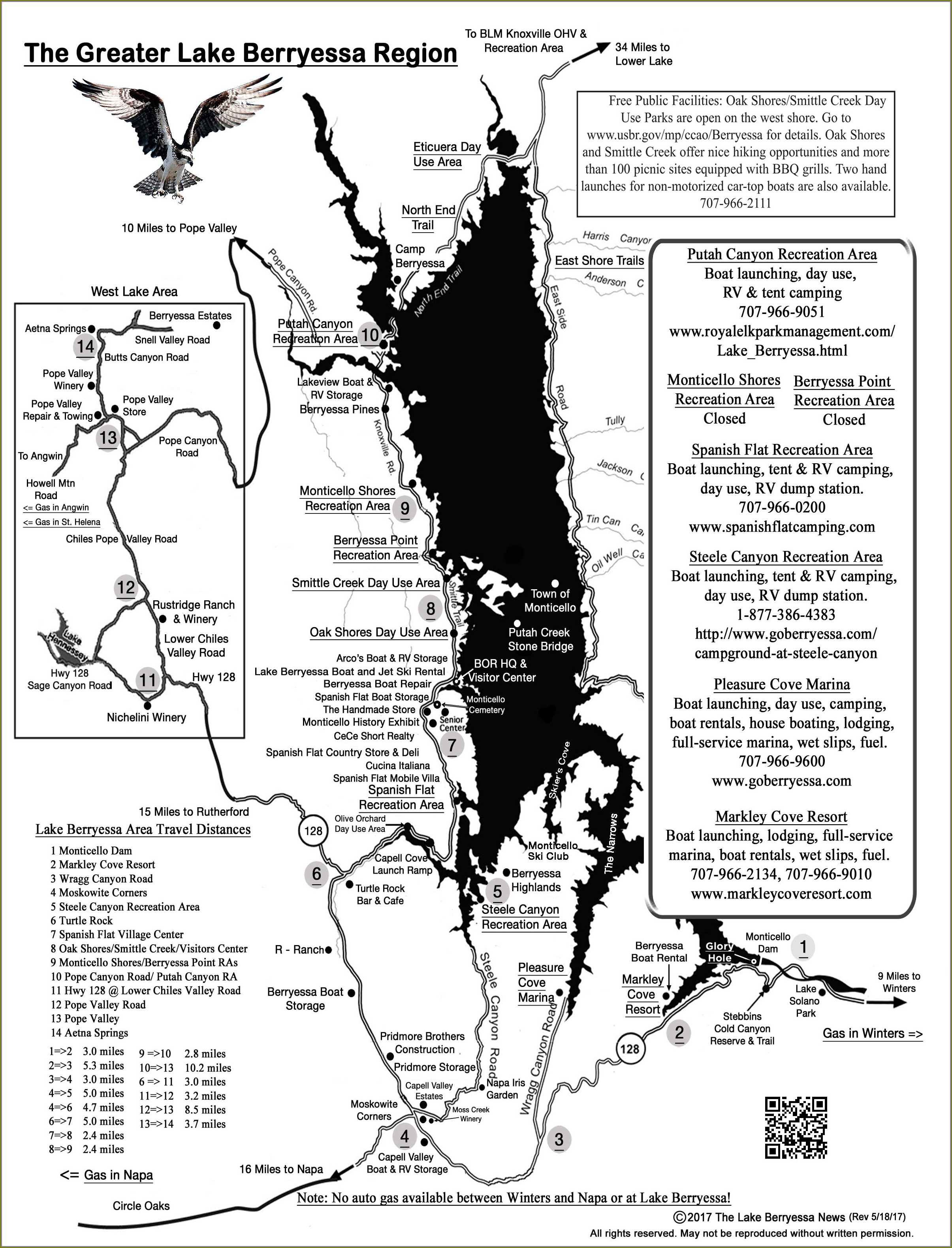 Lake Berryessa Campground Map