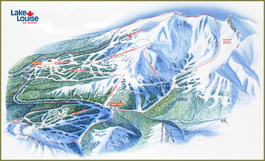 Lake Louise Lodging Map