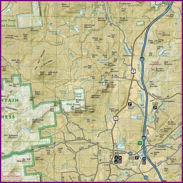 Lake Placid Hiking Map