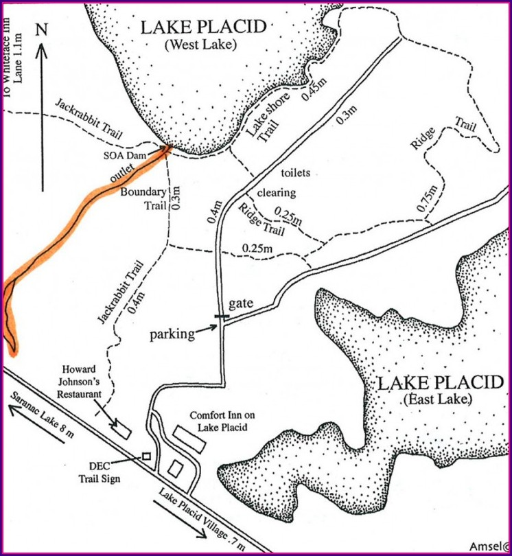 Lake Placid Hiking Trail Map
