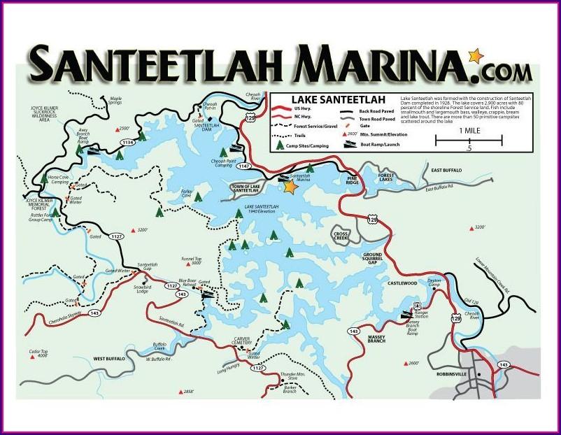 Lake Santeetlah Camping Map