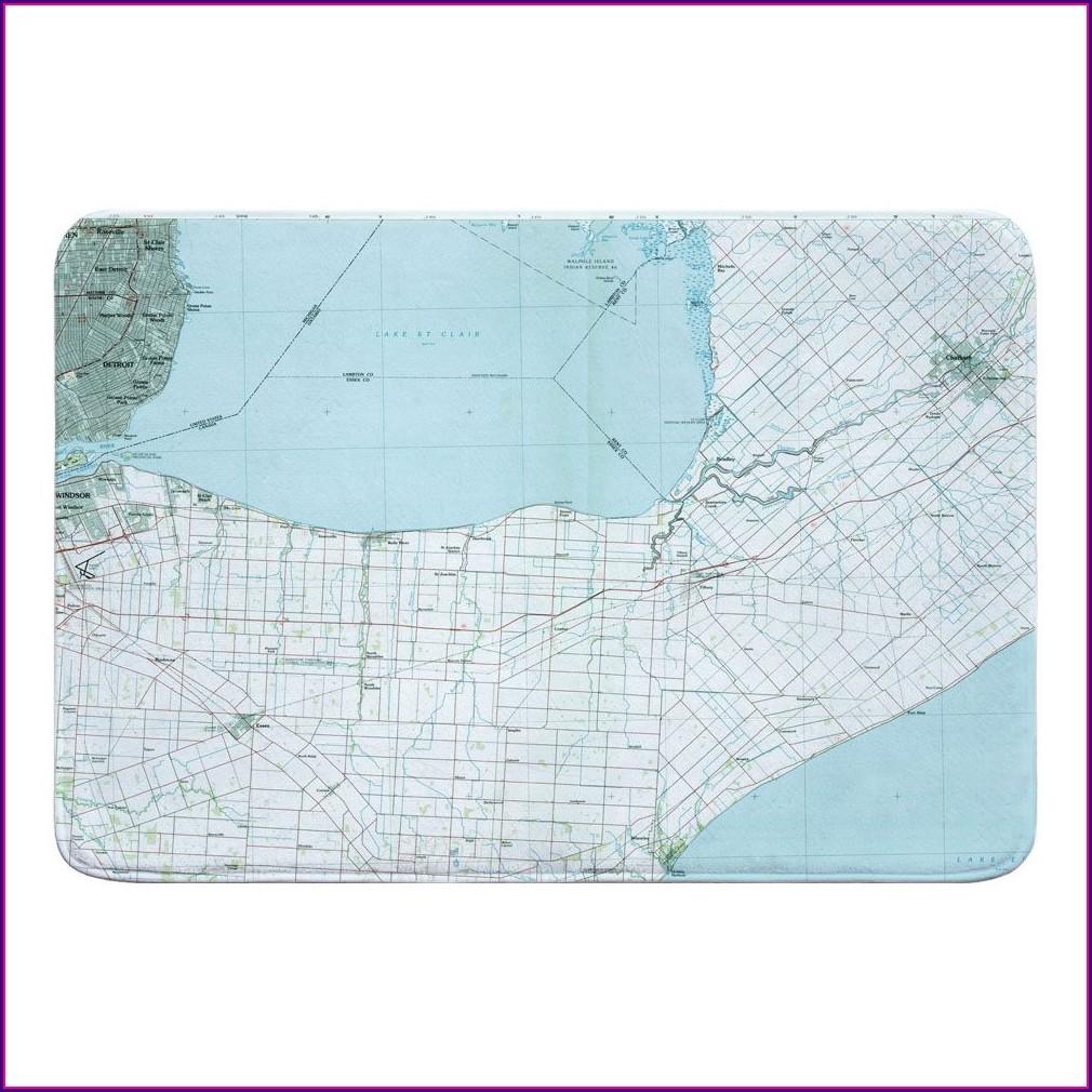 Lake St Clair Topo Map
