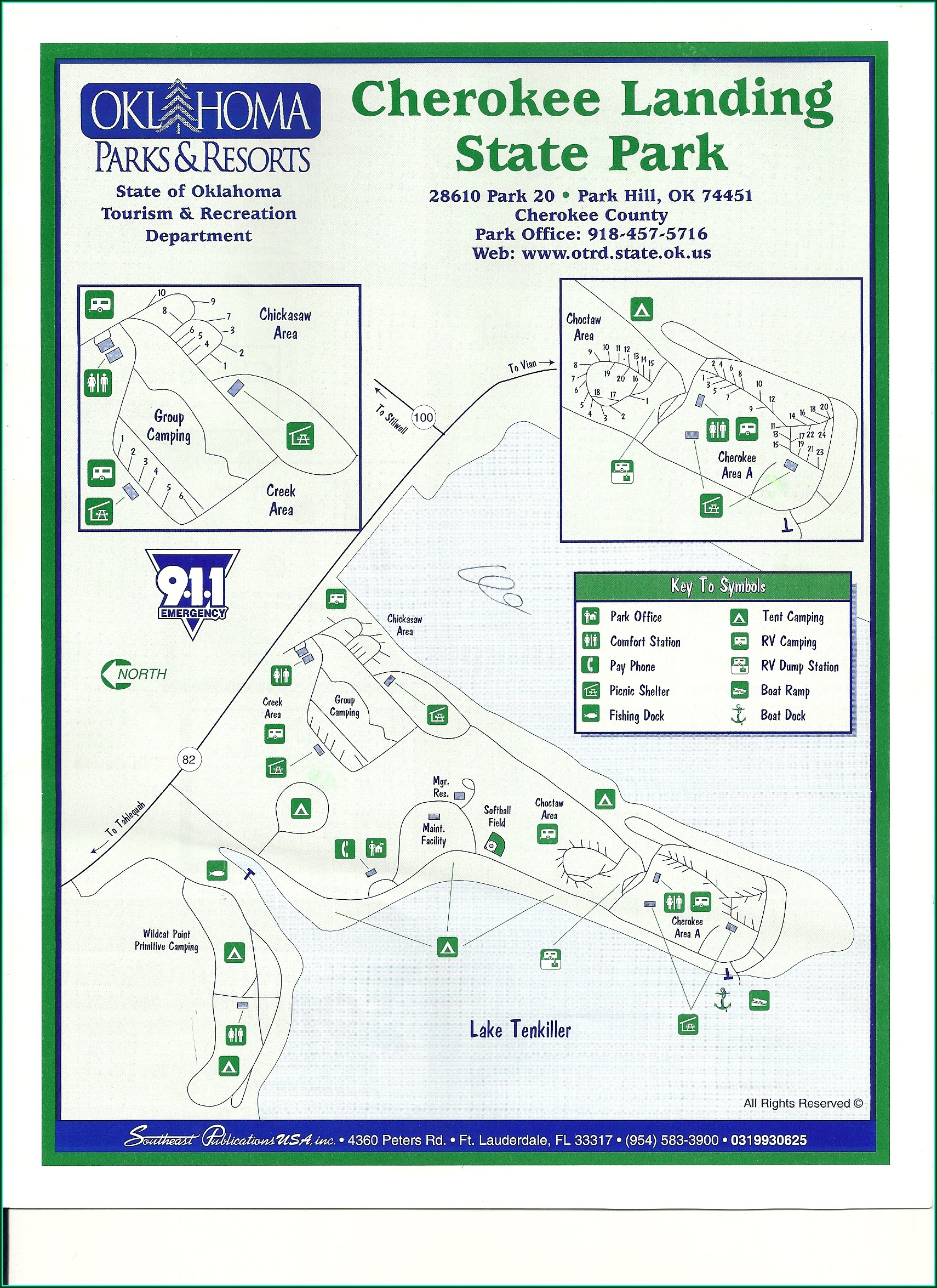 Lake Tenkiller State Park Map