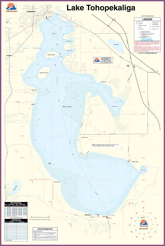 Lake Tohopekaliga Fishing Map