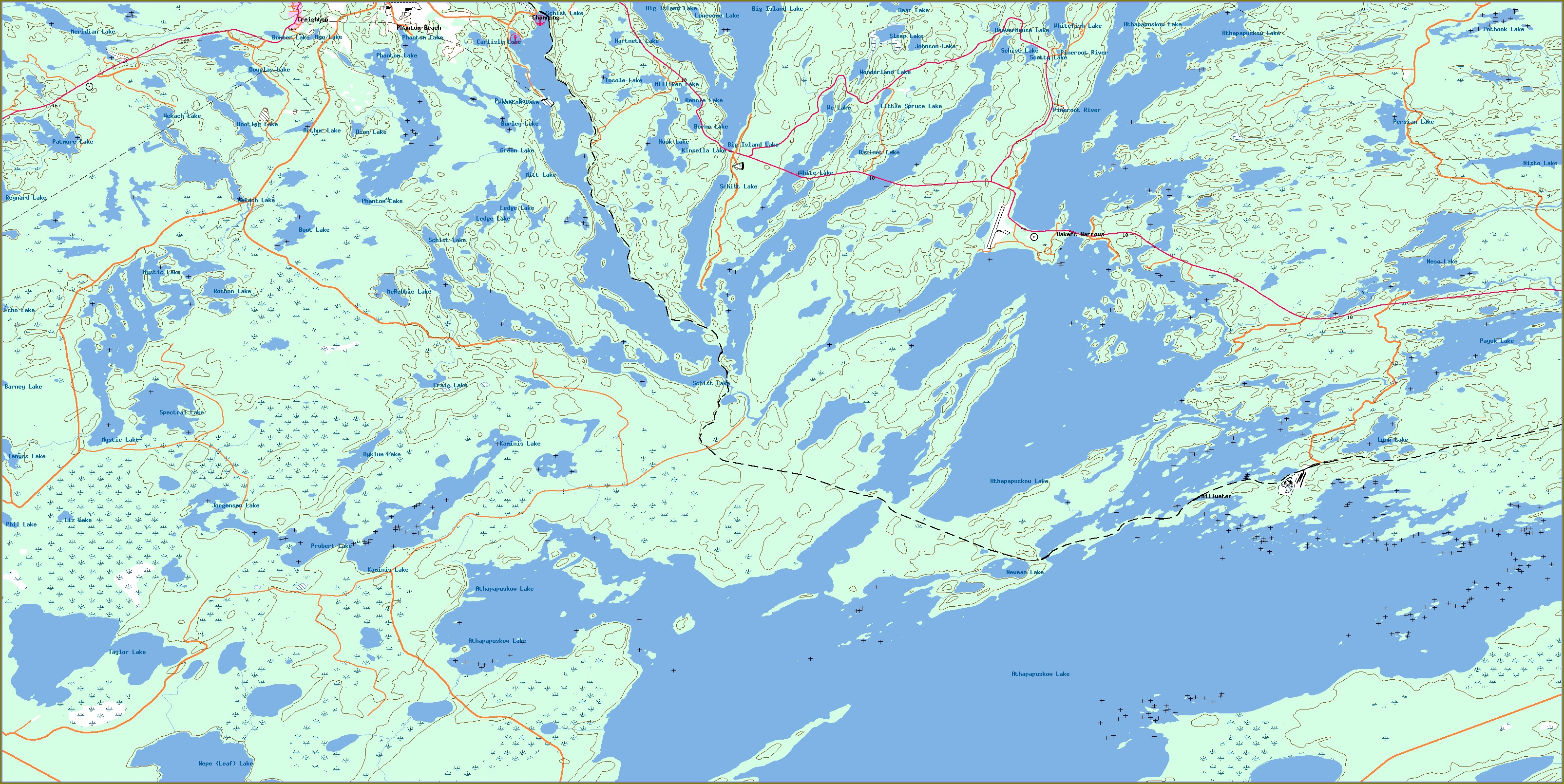 Lake Winnipeg Contour Map