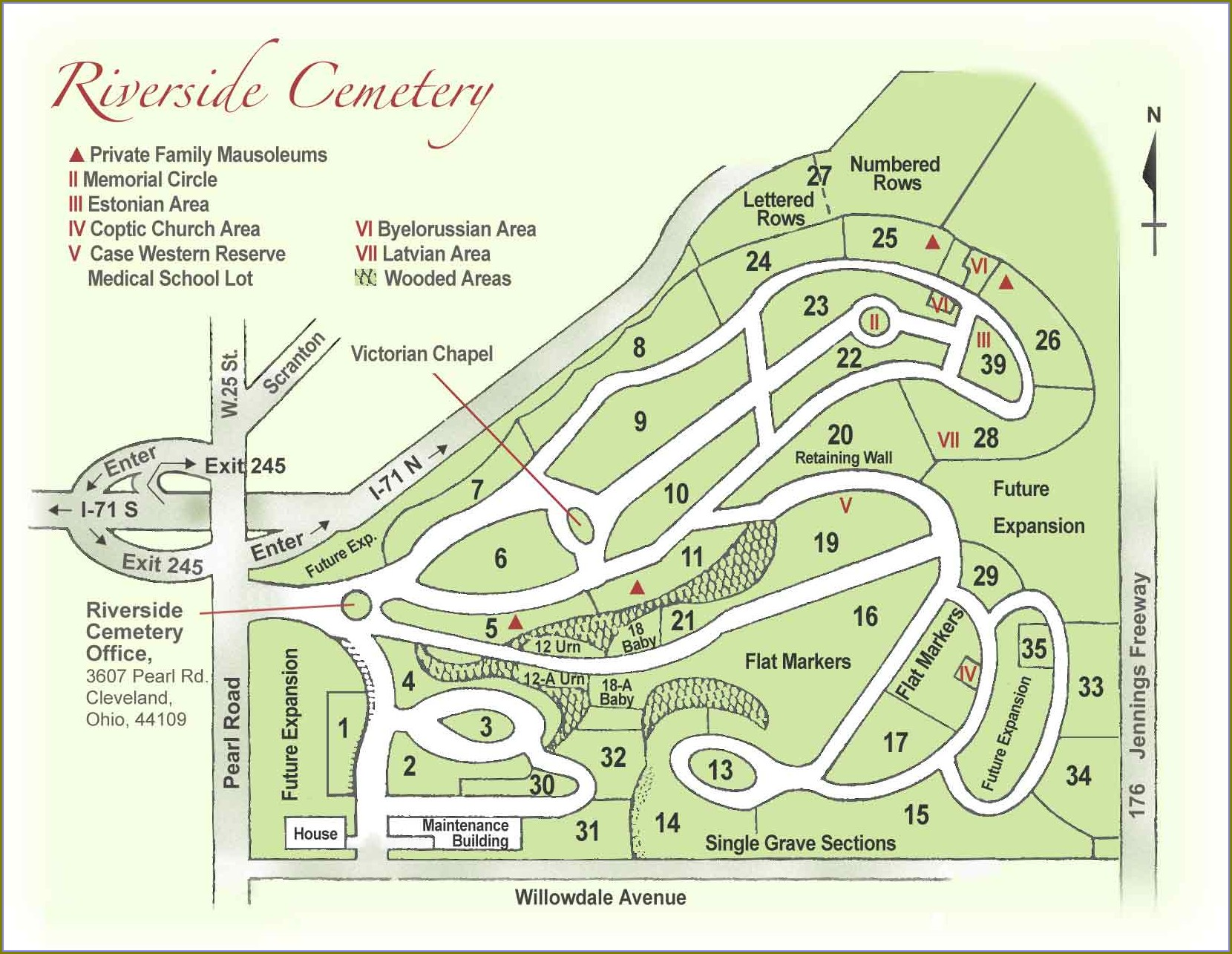 Lakeview Cemetery Cleveland Map