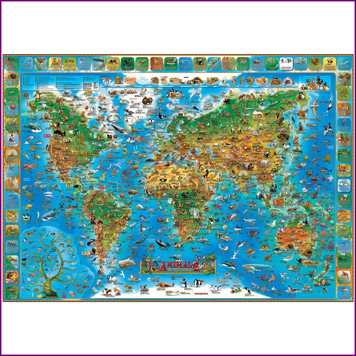 Laminated Wall Maps Of The World
