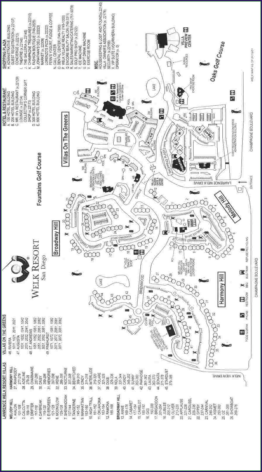 Lawrence Welk Resort Escondido Map