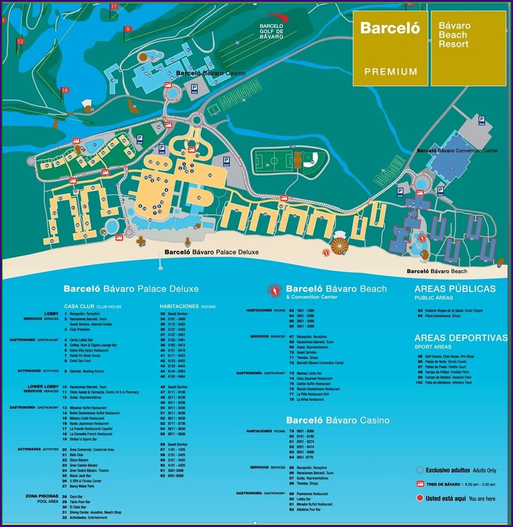 Layout Riu Santa Fe Map